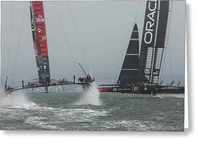 America's Cup Match - 1 Greeting Card