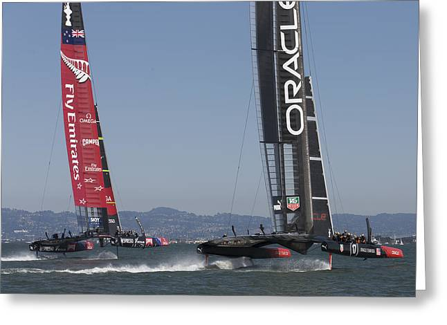 America's Cup Match - 3 Greeting Card