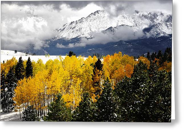 America's Mountain Fall Greeting Card by The Forests Edge Photography - Diane Sandoval