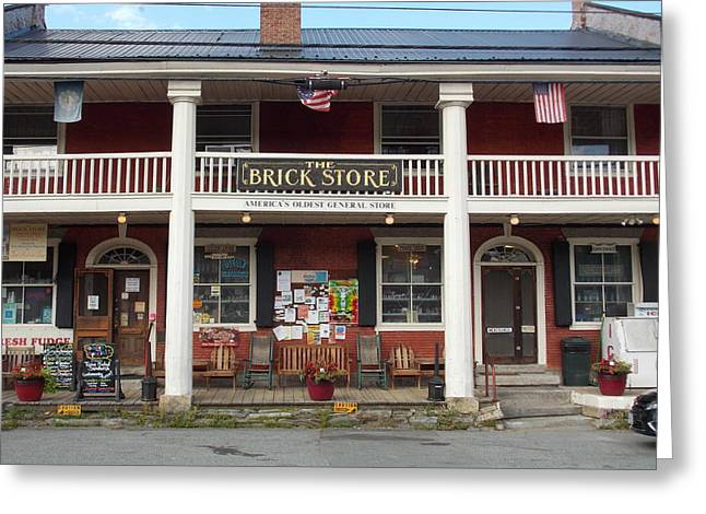 America's Oldest General Store Greeting Card by Catherine Gagne