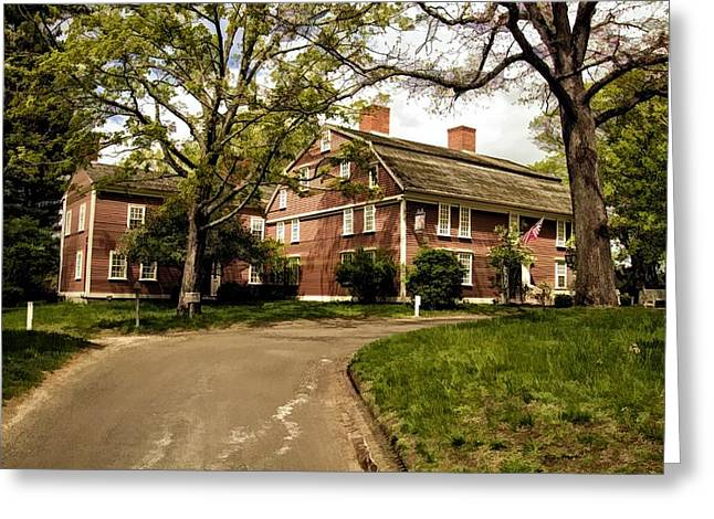 America's Oldest Inn Longfellow's Wayside Inn In Sudbury Massachusetts Greeting Card by Constantine Gregory