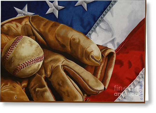 America's Pastime Greeting Card by Cory Still