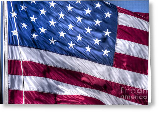America's Stars And Strips Greeting Card by D Wallace