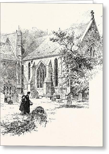 Amesbury The Chancel Greeting Card by English School
