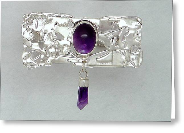 Amethyst Caverns Greeting Card