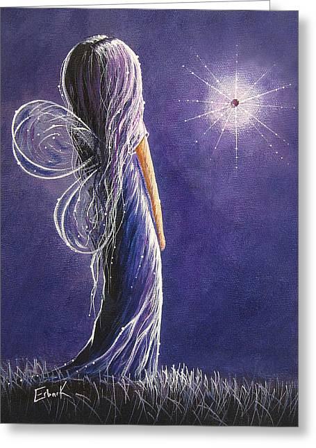 Amethyst Fairy By Shawna Erback Greeting Card