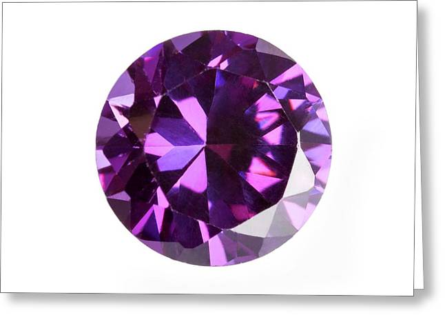 Amethyst Gemstone Greeting Card