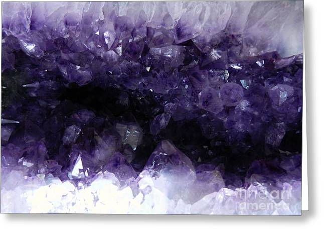 Amethyst Geode Greeting Card by Amar Sheow