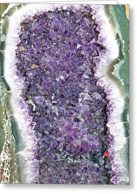 Amethyst Geode Greeting Card