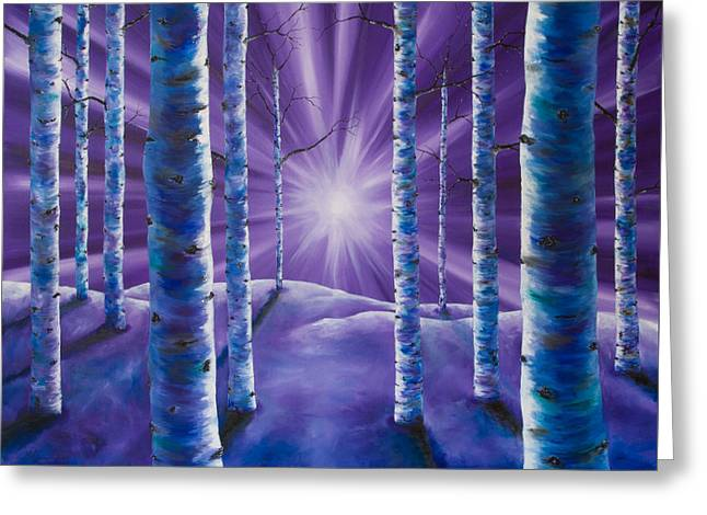 Amethyst Winter Greeting Card