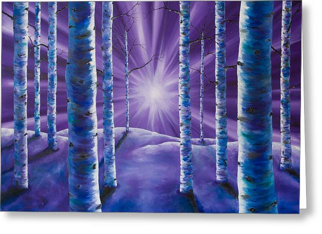 Amethyst Winter Greeting Card