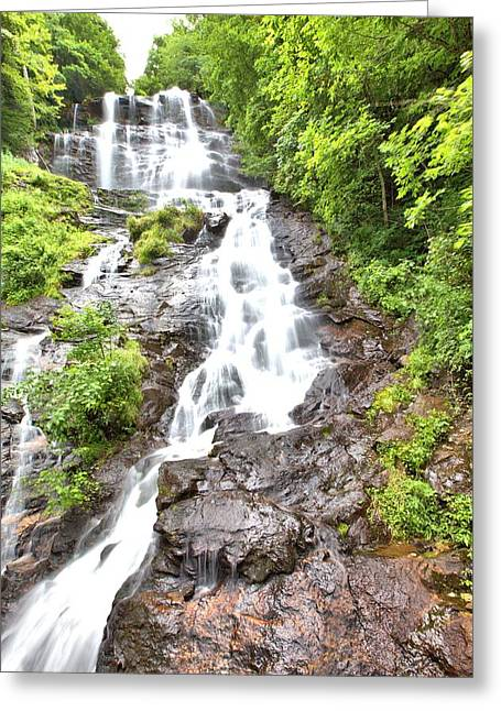 Amicalola Falls Greeting Card by Gordon Elwell