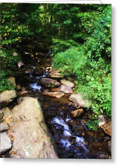 Amicalola Falls Greeting Card by Jennifer Hotai