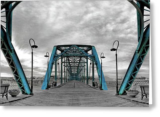 Amid The Bridge Greeting Card