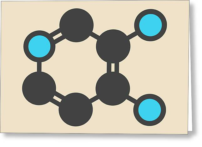 Amifampridine Molecule Greeting Card by Molekuul