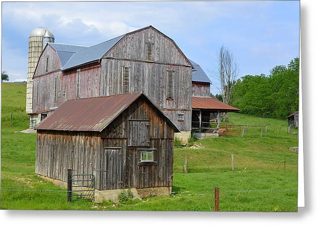 Amish Barn #2 - Woodward Pa Greeting Card