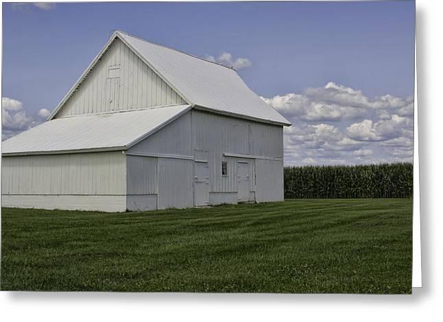 Amish Barn Greeting Card by Susan Knodle