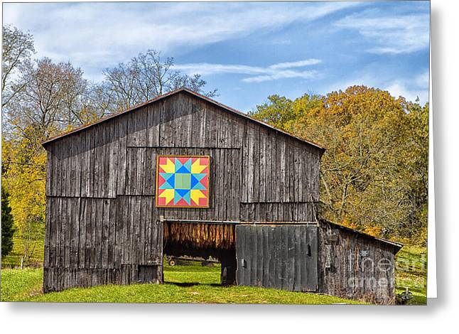 Amish Barn With Hex Greeting Card