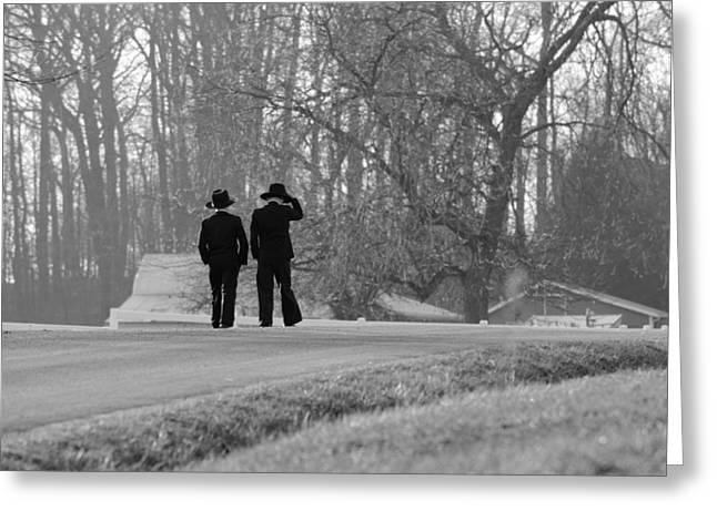Amish Boys Greeting Card