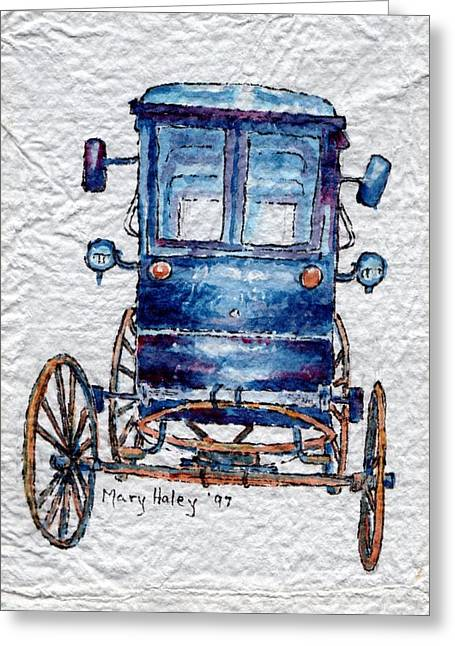 Amish Cart Greeting Card
