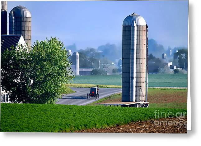 Amish Country  Greeting Card by Dyle   Warren