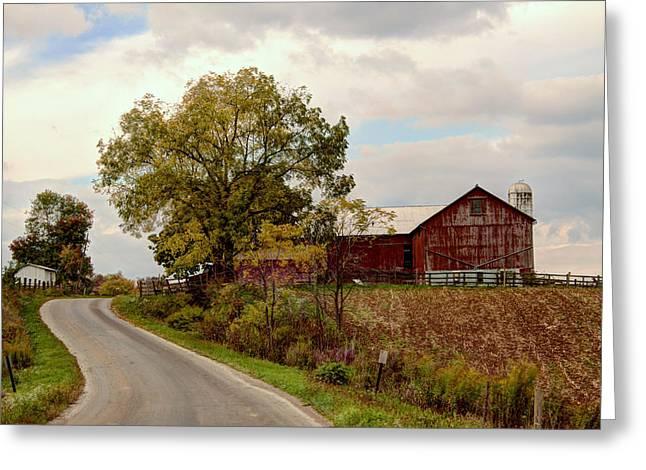 Amish Farm II Greeting Card