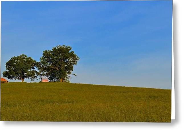 Amish Farm Sunrise Greeting Card by Jason Humbracht