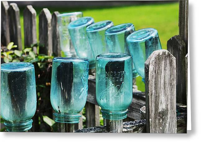 Amish Fence Greeting Card by William Rockwell