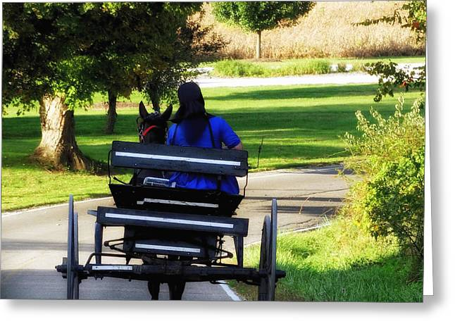 Amish Lady #2 Greeting Card