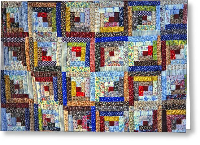 Amish Quilt Greeting Card