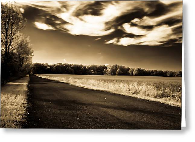 Greeting Card featuring the photograph Amish Road by David Stine