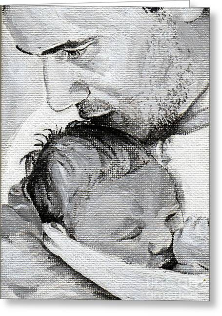 Amit And Mika Greeting Card by Tamir Barkan