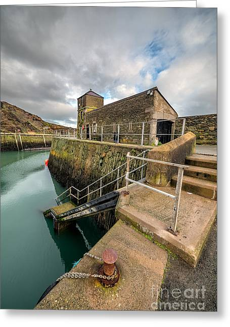 Amlwch Port Lighthouse Greeting Card by Adrian Evans