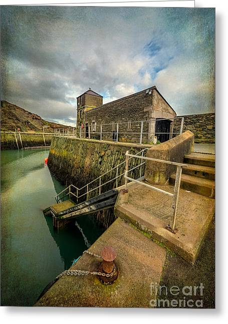 Amlwch Port Lighthouse V2 Greeting Card by Adrian Evans