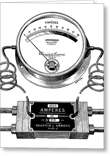 Ammeter And Shunt Greeting Card by Science Photo Library