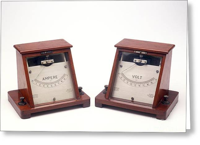 Ammeter And Voltmeter Greeting Card by Clive Streeter / Dorling Kindersley