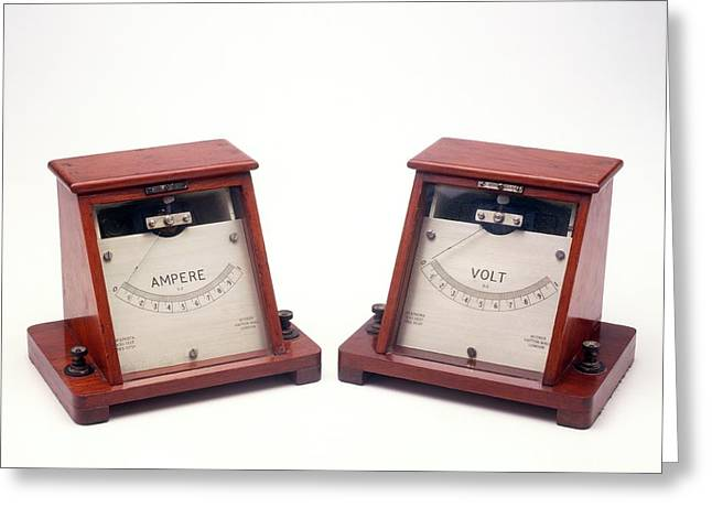 Ammeter And Voltmeter Greeting Card