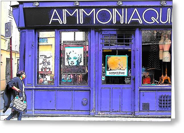 Ammoniaque Boutique In Marais Paris Greeting Card by Jan Matson