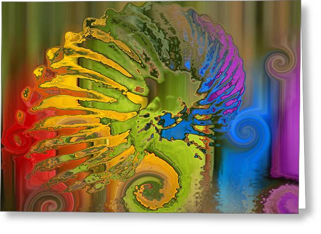 Ammonite 2 Greeting Card by Soumya Bouchachi
