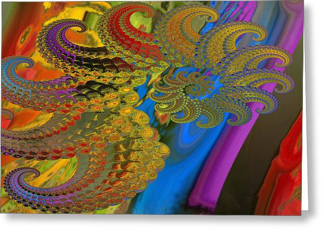 Ammonite 4 Greeting Card by Soumya Bouchachi