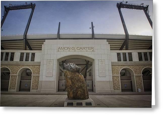 Amon G Carter Stadium At Tcu Greeting Card by Joan Carroll