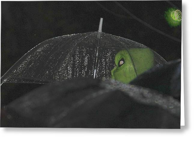 Among Us Greeting Card by Gregory Whiting