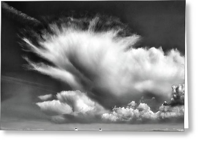 Amongst The Clouds ... Greeting Card
