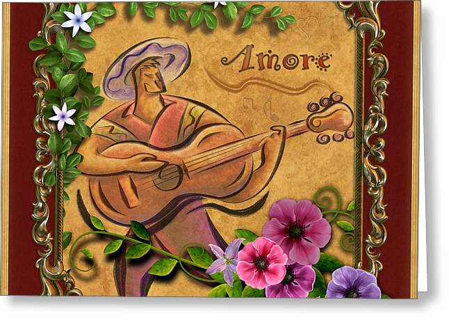 Amore - Musician Version Greeting Card by Bedros Awak