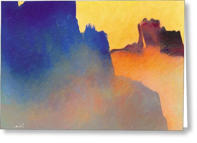 Amorphous 60 Greeting Card by The Art of Marsha Charlebois