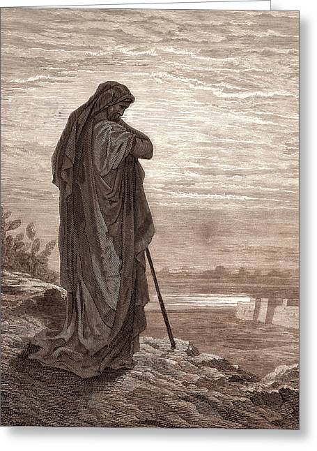 Amos The Prophet, By Gustave DorÉ. Dore Greeting Card