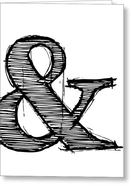 Ampersand Poster 1 Greeting Card by Naxart Studio
