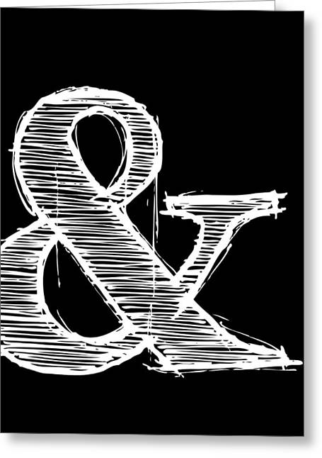 Ampersand Poster 2 Greeting Card by Naxart Studio