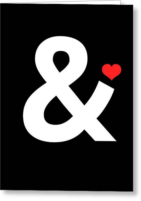 Ampersand Poster 4 Greeting Card by Naxart Studio