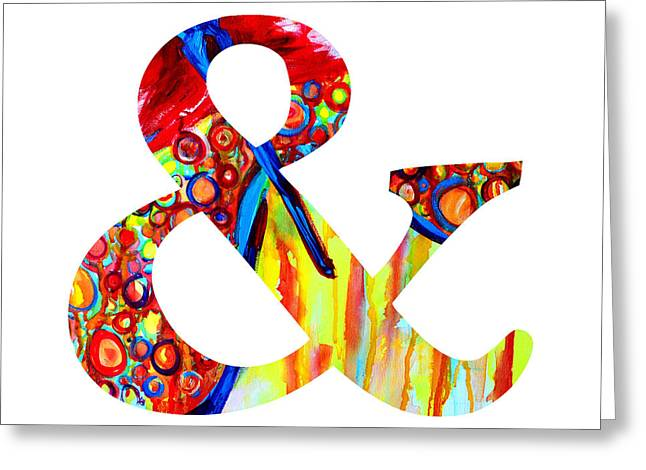 Ampersand Symbol Art No. 5 Greeting Card by Patricia Awapara
